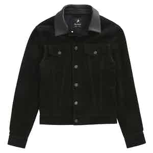 Black Suede Ennio Trucker Jacket
