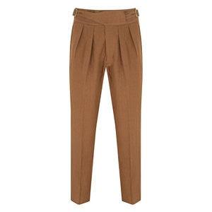Brown Linen Manny Trousers