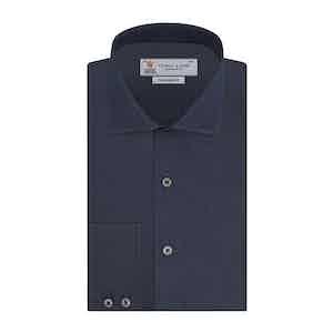 Navy Classic Cashmere Kent Collar Shirt