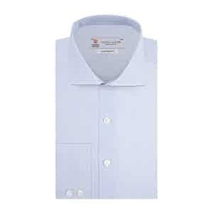Light Blue Check Cotton Kent Collar Shirt