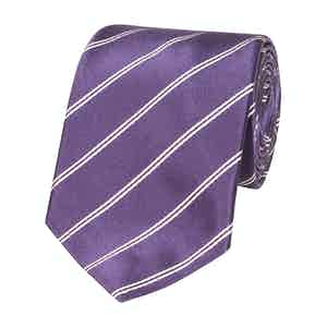 Purple Stripe Silk Tie