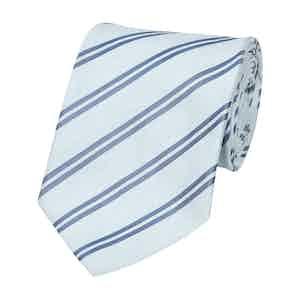 Blue Stripe Silk Tie
