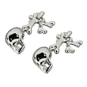 Platinum Skull and Crossbones Cufflinks