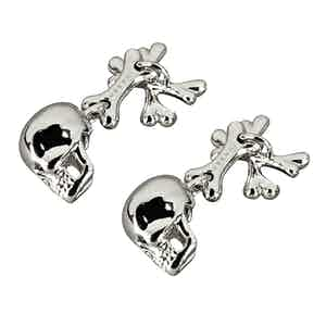 Platinum Skull and Crossbones Cufflinks