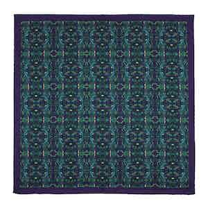 Purple Silk Labyrinth Pocket Square