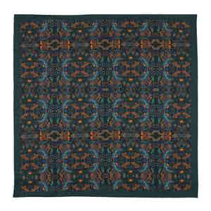 Forest Green Silk Labyrinth Pocket Square