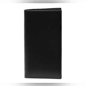 Black Leather Long Wallet