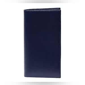 Blue Leather Long Wallet