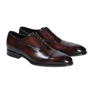 Brown Leather Savona Oxford Shoes
