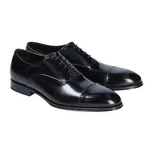 Black Leather Savona Oxford Shoes