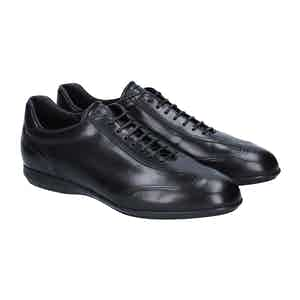 Black Leather Vicenza Sneakers