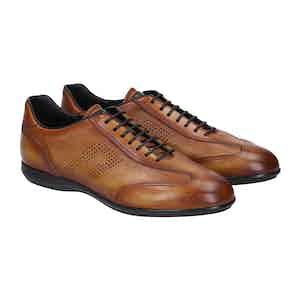 Light-Brown Leather Verona Sneakers