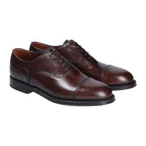 Brown Leather Liverpool Oxford Shoes