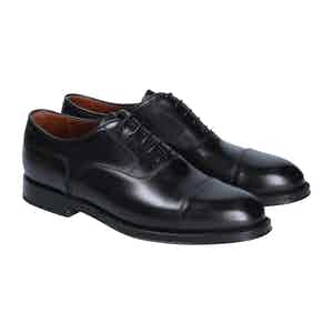 Black Leather Liverpool Oxford Shoes