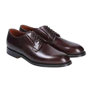 Brown Leather Manchester Derby Shoes