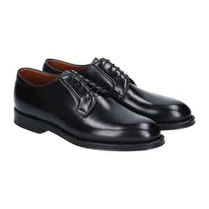 Black Leather Manchester Derby Shoes