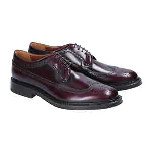 Bordeaux Leather Cardiff Derby Shoes