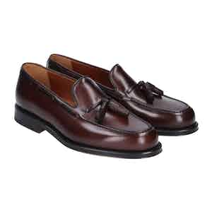 Brown Leather Brighton Tassel Loafers