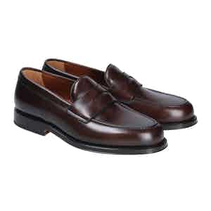Brown Leather Newport Penny Loafers