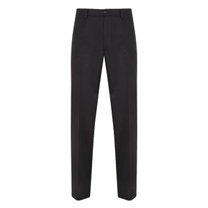 Dark Navy Cashmere Flat-Fronted Trousers