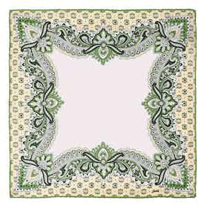 Green Fiori Fiore di Limone Silk Pocket Square