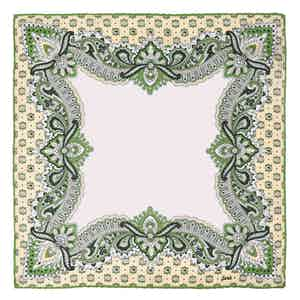 Green Fiori Fiore di Limone Silk Pocket Square