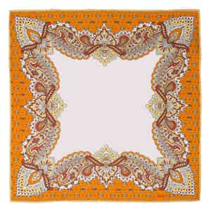 Orange Fiore d'Arancio Silk Pocket Square