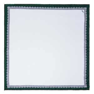 White and Green Essential Silk Pocket Square