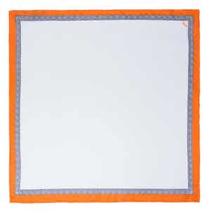 White and Orange Essential Silk Pocket Square