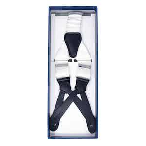 White Silk Tuxedo Braces