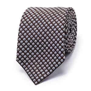 Chocolate Brown Tonal Teardrop Silk Tie