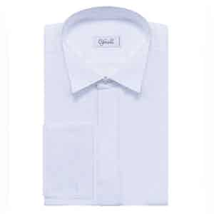 White Wing Collar Cotton Shirt