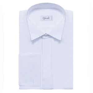 White Wing Collar Cotton Shirt