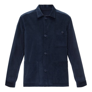 Navy Wale Cord Cotton Workers Jacket