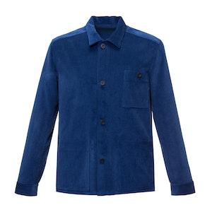 Indigo Wale Cord Cotton Workers Jacket