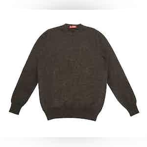 Dark Grey Cashmere Crew Neck Sweater