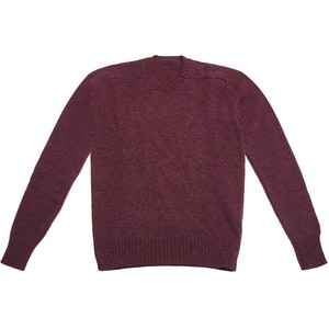 Berry Shetland Wool Sweater