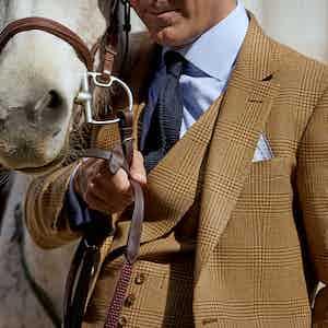 Caramel Light Tweed Waistcoat