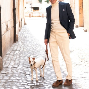 Ivory Corduroy Trousers