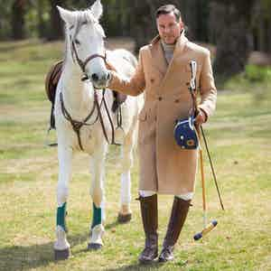 Pure Camel Hair Polo Overcoat