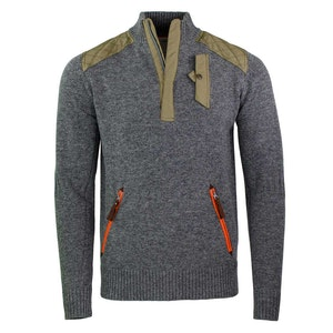 Grey Alpine Guide Wool and Nylon Sweater