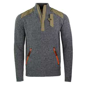 Grey Alpine Guide Wool and Nylon Sweater