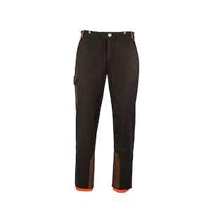 Chocolate Brown Alpine Winter Wool Blend Ski Trousers