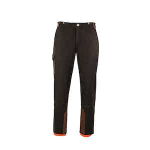 Chocolate Brown Alpine Winter Wool Blend Ski Trousers