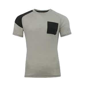 Oatmeal Touring Crew Neck Merino T-Shirt
