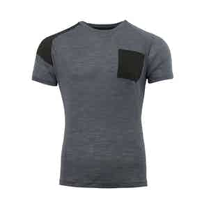 Grey Touring Crew Neck Merino T-Shirt