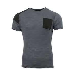 Grey Touring Crew Neck Merino T-Shirt