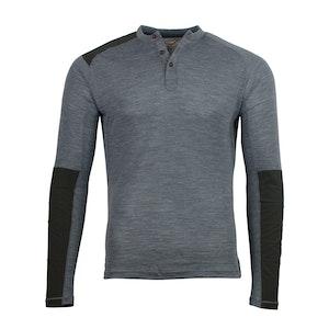 Grey Touring Henley Collar Merino T-Shirt