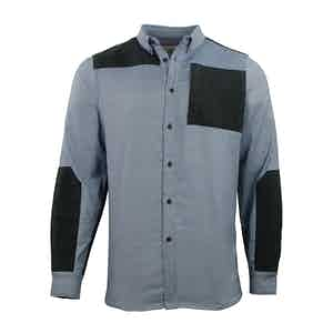 Flintstone Grey Touring Merino Cotton Oxford Shirt