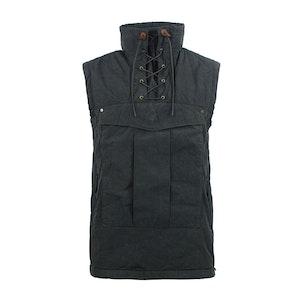 Raven Grey Touring Waxed Cotton Vest